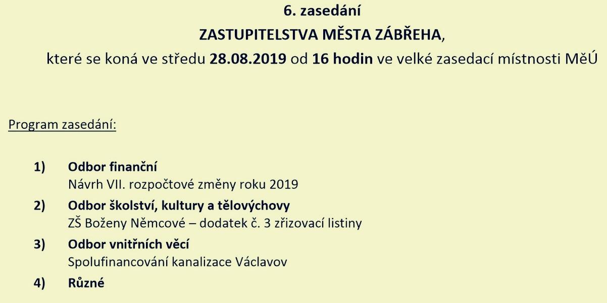 ZM Zábřeh - program zdroj: muz