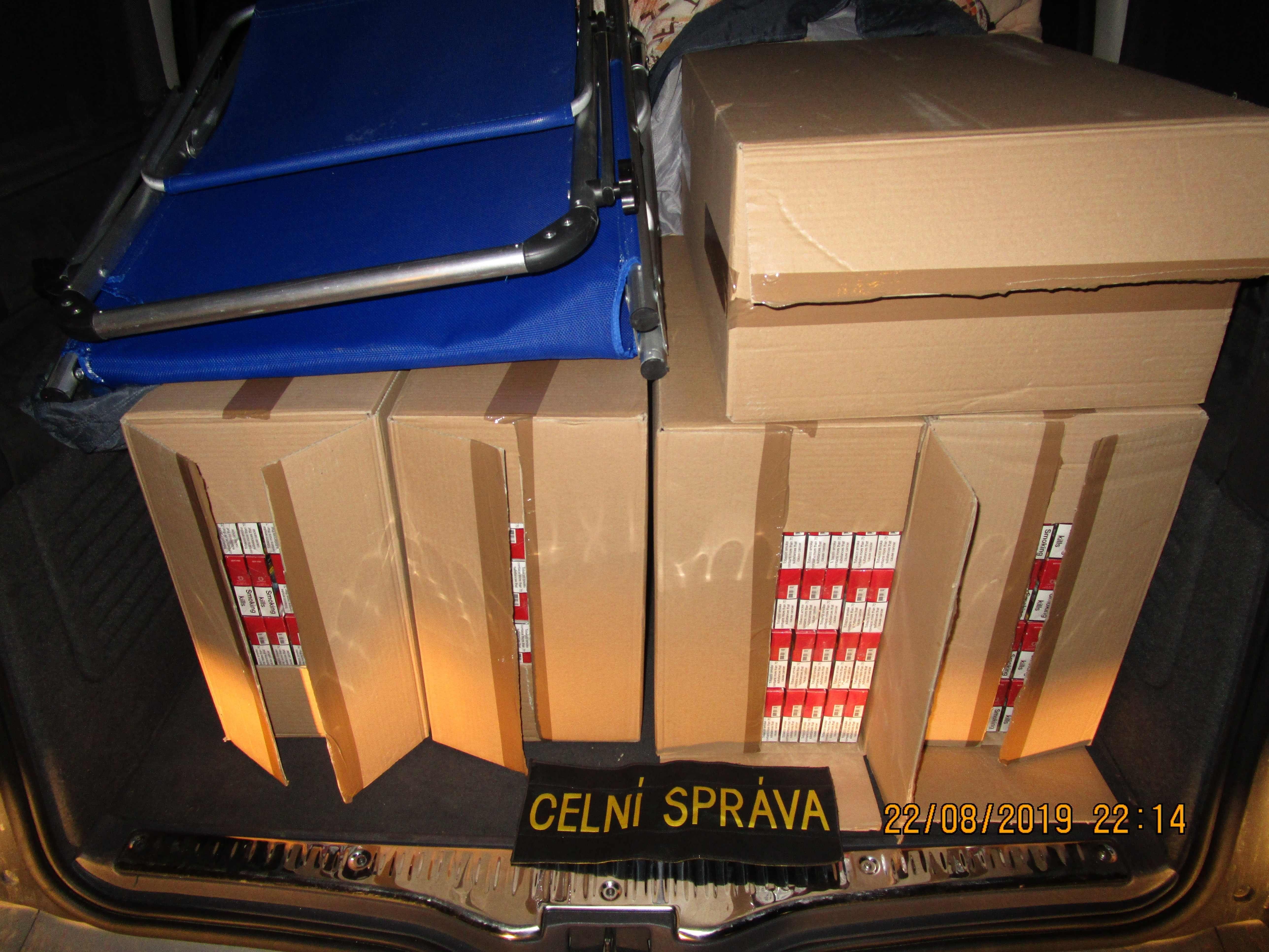 zajištěné cigarety zdroj foto: CÚOLK