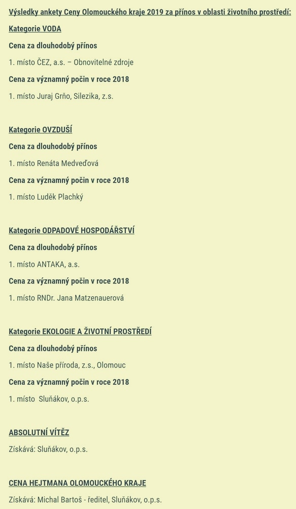 seznam vítězů zdroj foto: OLK