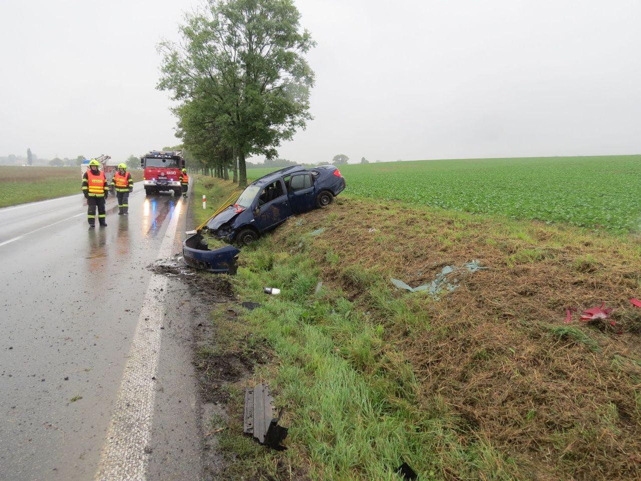 havárie vozidla u Zvole zdroj foto: PČR