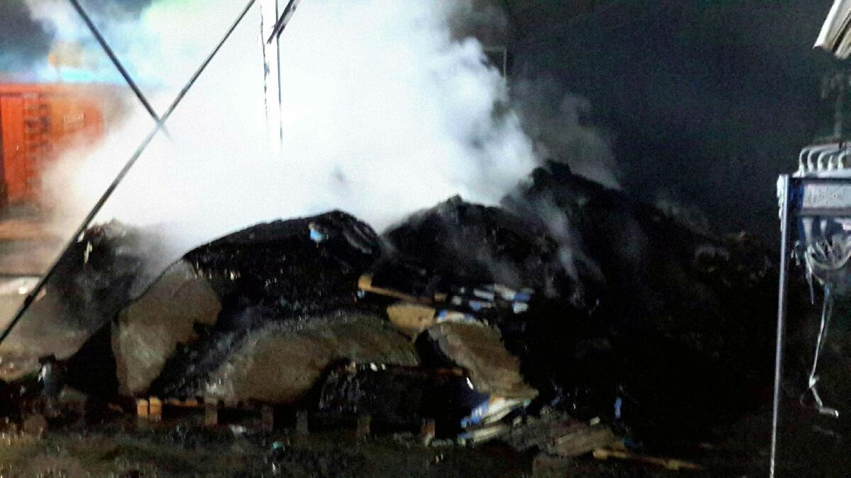 Litovel - likvidace požáru zdroj foto: HZS OLK
