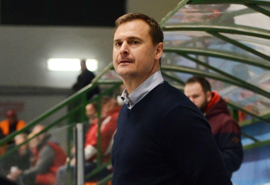 Trenér Janček proti Hodonínu, foto: Věra Václavková - DŠ