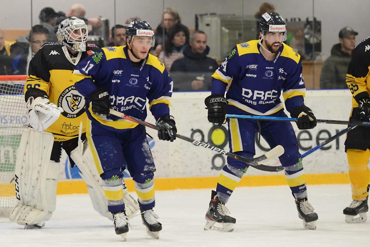 Draci Šumperk vs. Moravské Budějovice foto: Věra Václavková - Draci Šumperk