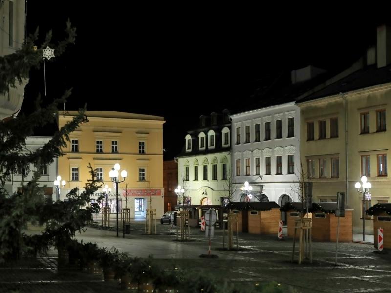 Šumperk - příprava vánočních trhů 2019 foto: sumpersko.net - M. Jeřábek