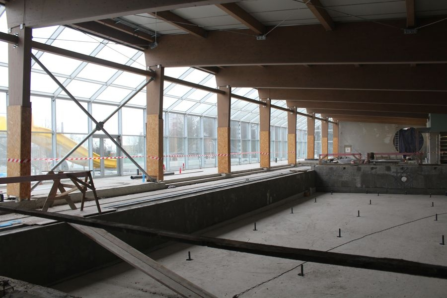 rekonstrukce plaveckého bazénu v Šumperku foto: S. Singerová - mus