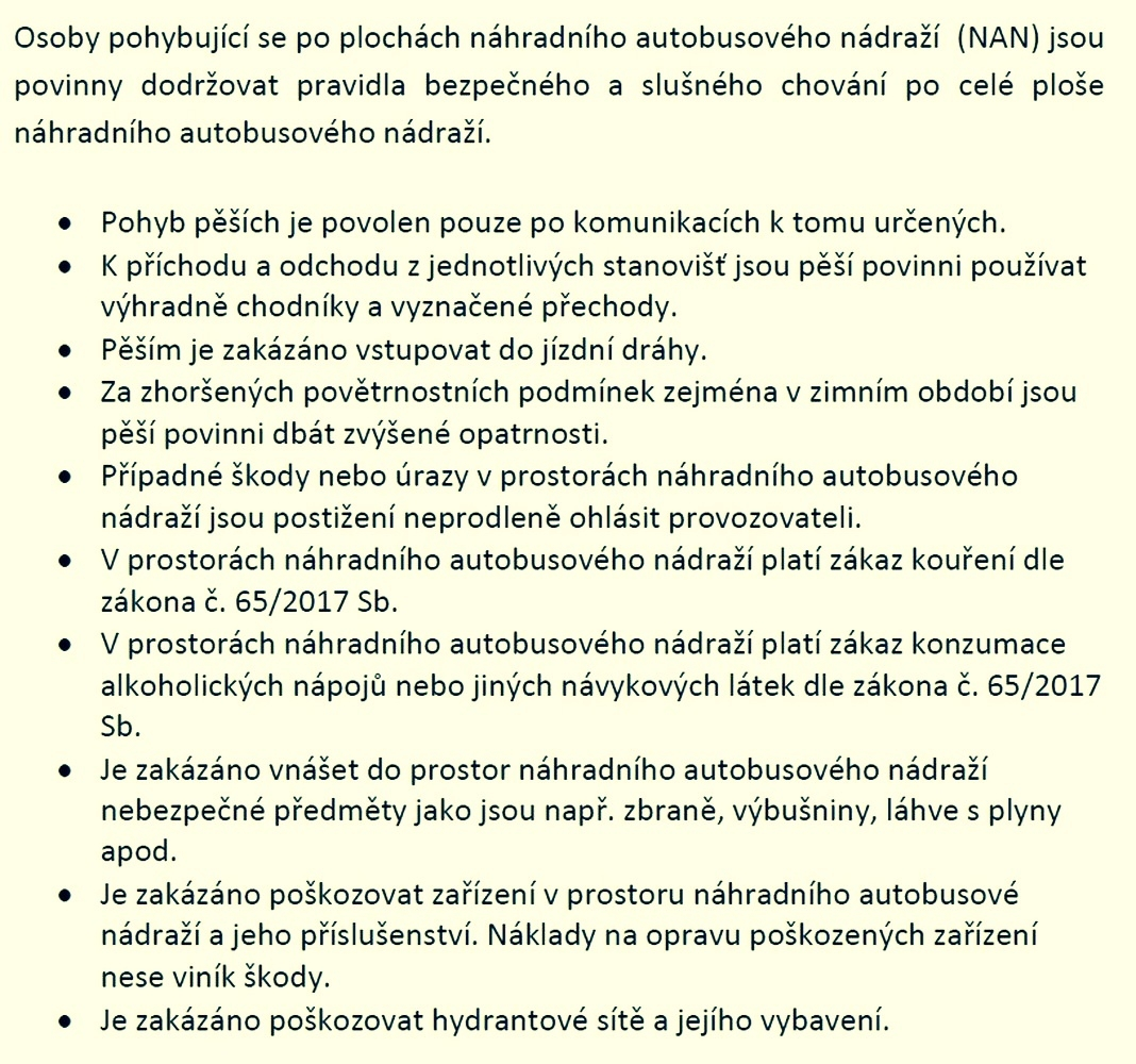 informace o pohybu na NAN zdroj: ČSAD Ostrava