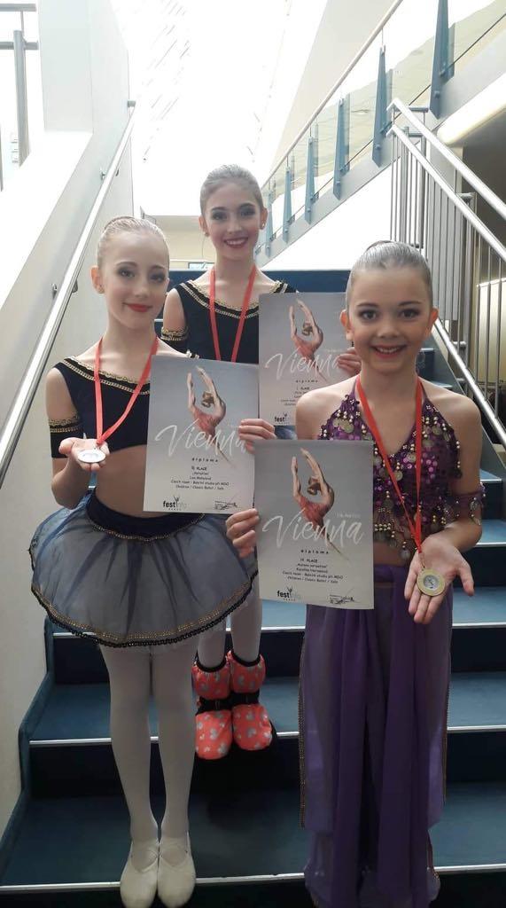Žákyně Baletního studia ovládly vídeňskou taneční soutěž zdroj foto: I. Heger