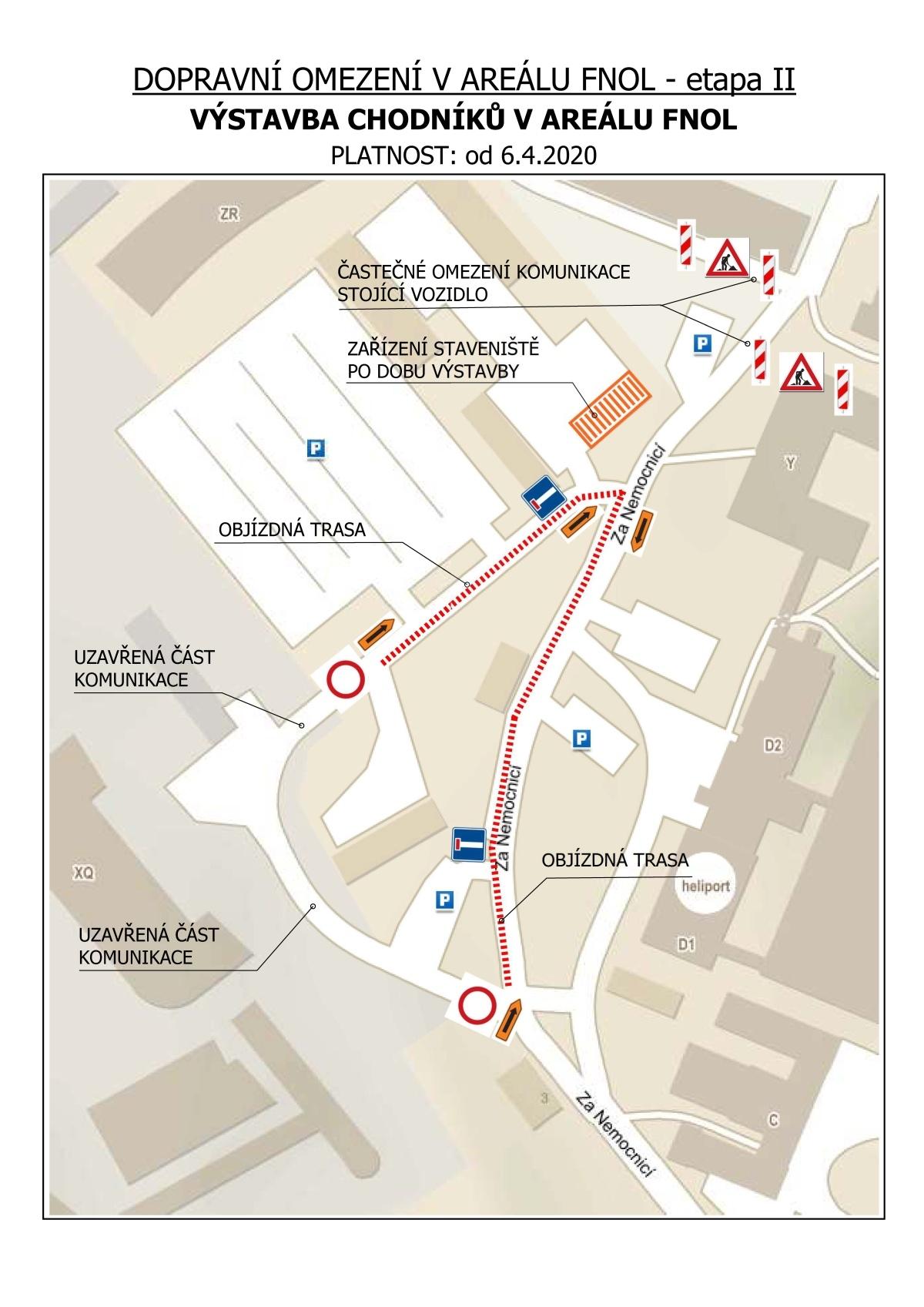 chodniky - dopravní omezení zdroj: FNOL