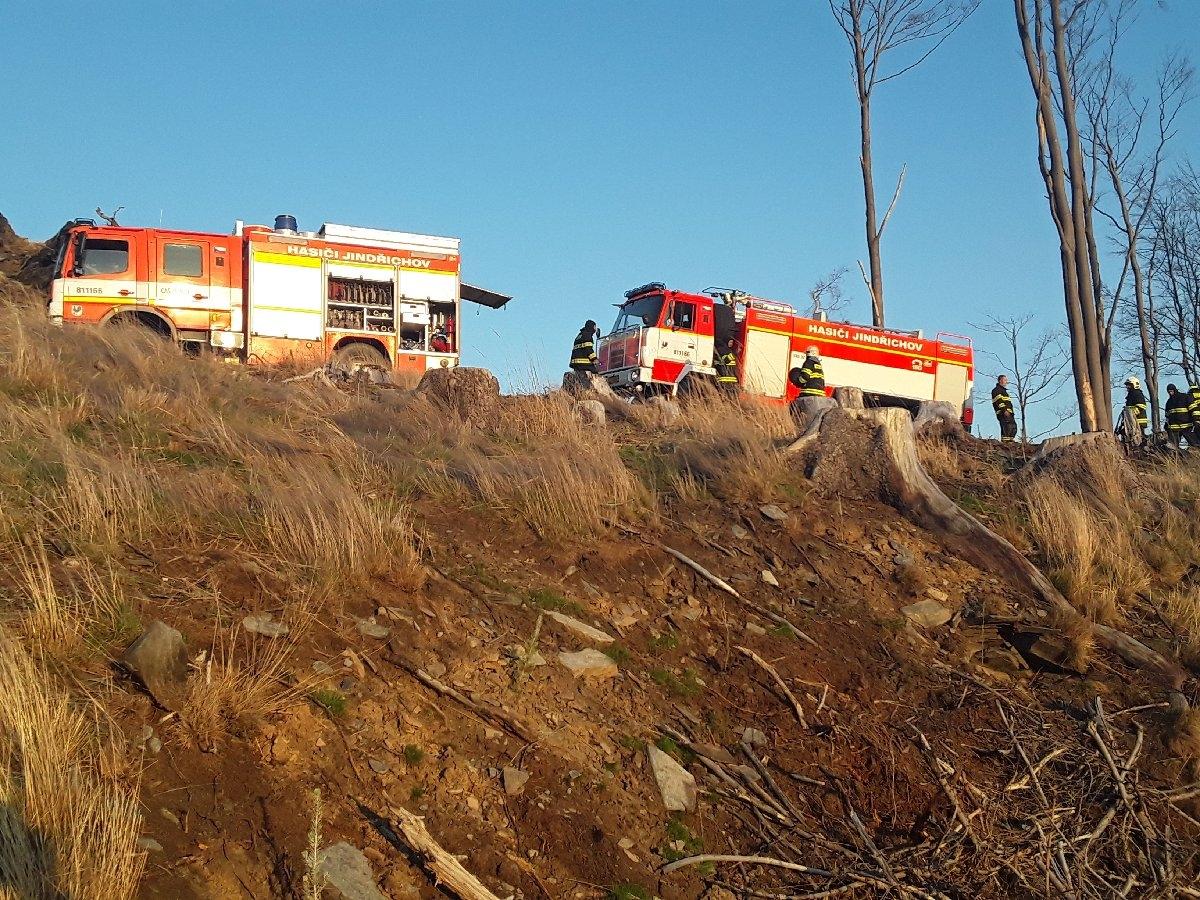 Hasiči v kraji likvidovali devět požárů lesa zdroj foto: HZS OLK