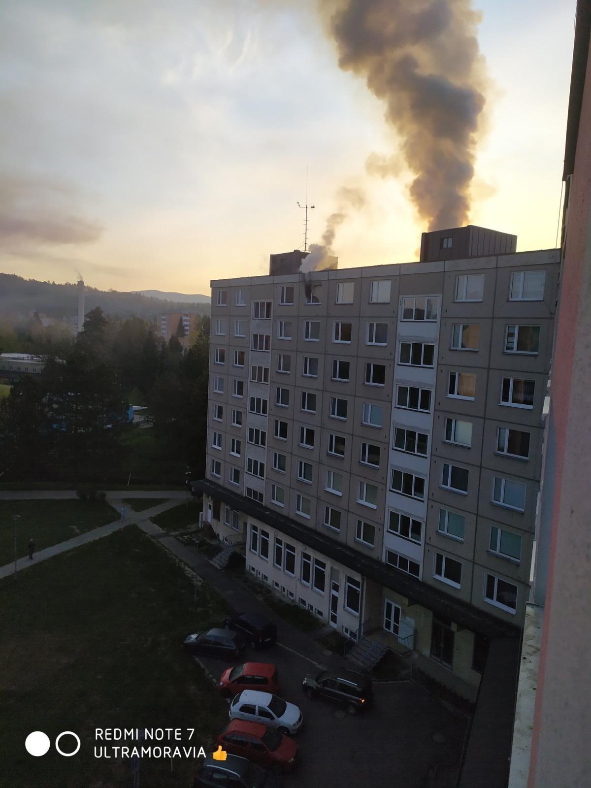požár bytu v Šumperku zdroj foto: HZS OLK