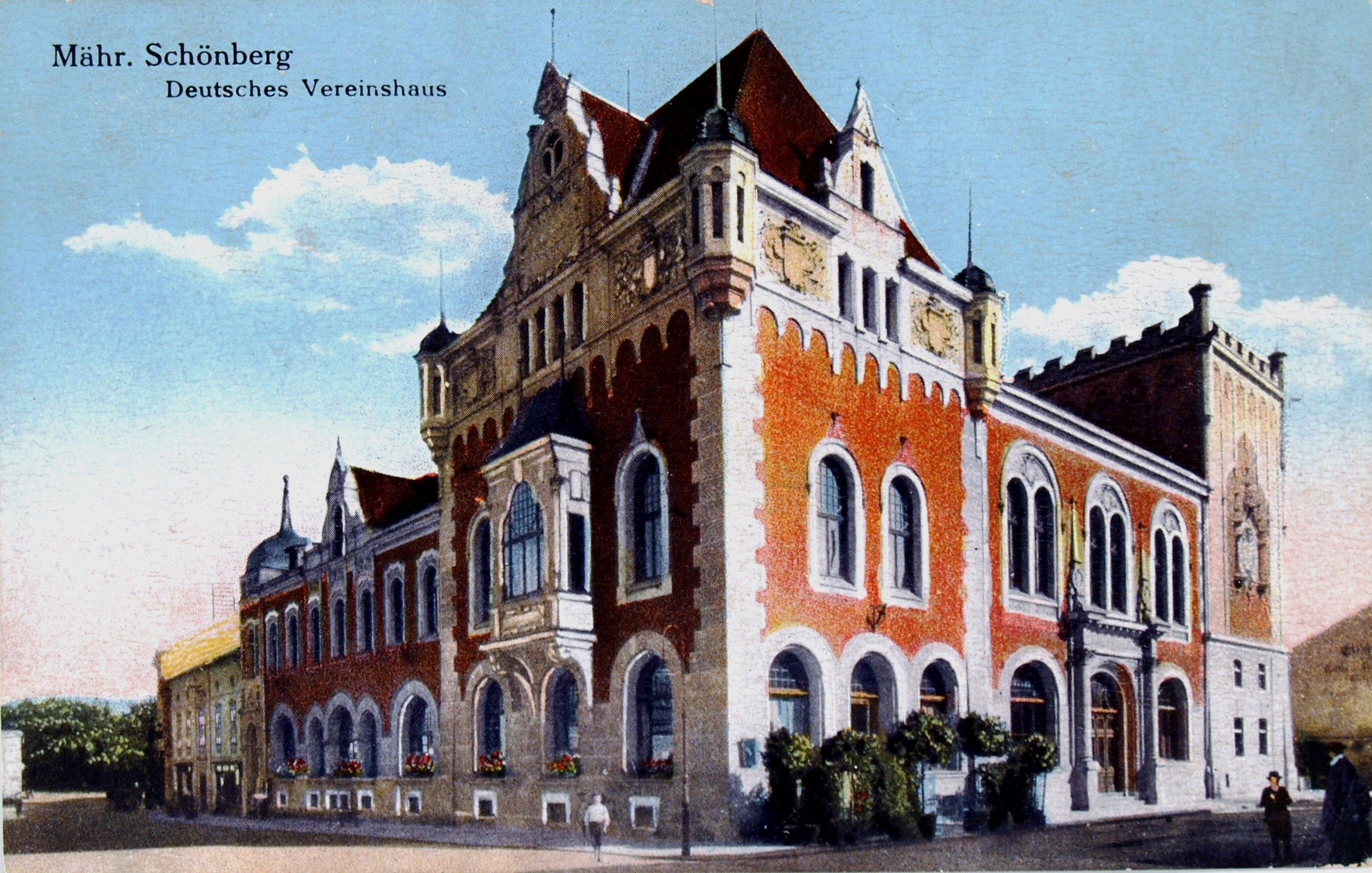 Někdejší Německý spolkový dům pro Šumperk navrhl G. Berger. Foto: VM Šumperk.