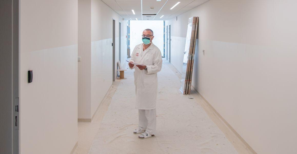 Nový pavilon Hemato-onkologické kliniky FN Olomouc je před dokončením zdroj foto: FNOL