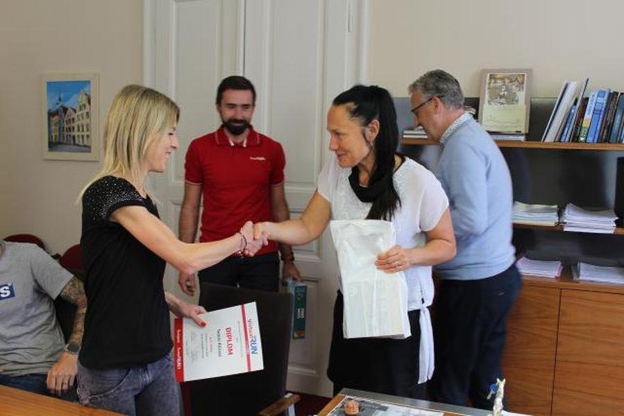 VirtualRUN předání ocenění na šumperské radnici zdroj foto: mus