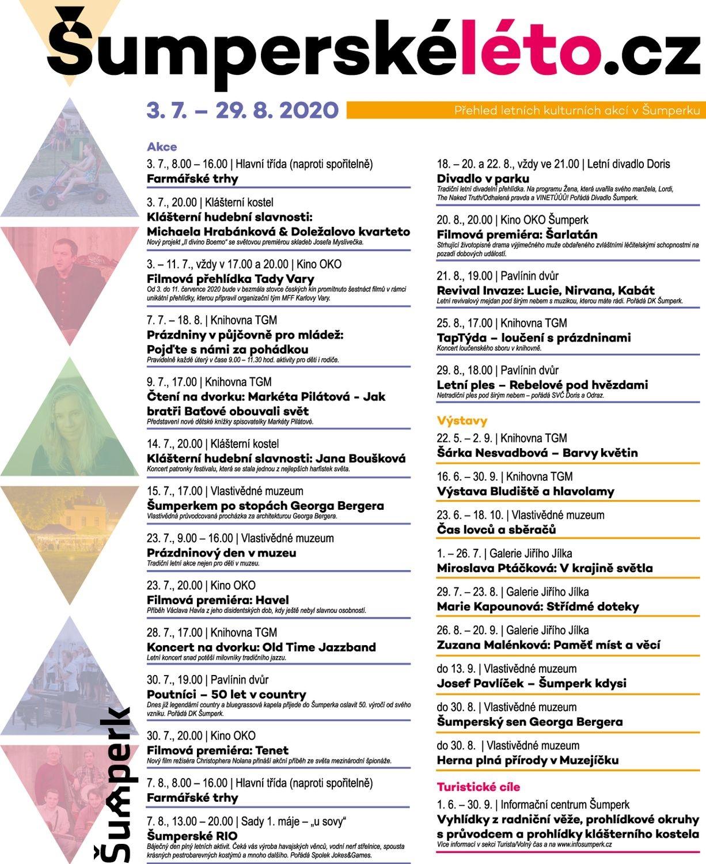 Šumperské léto 2020 - program zdroj: mus
