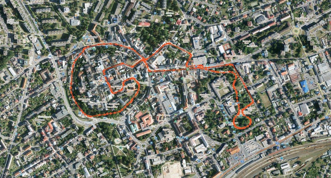 trasa závodu zdroj:mus-ŠumpeRUN