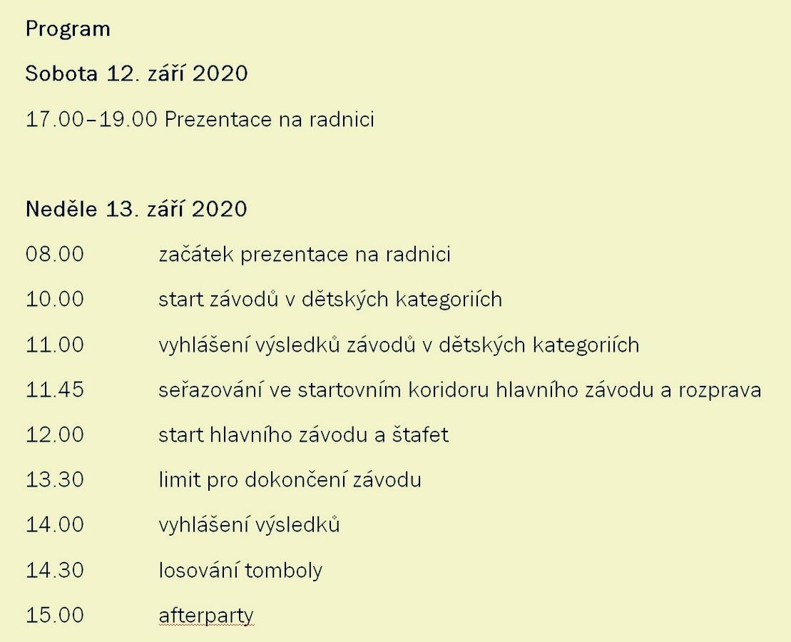 program závodu zdroj:mus-ŠumpeRUN