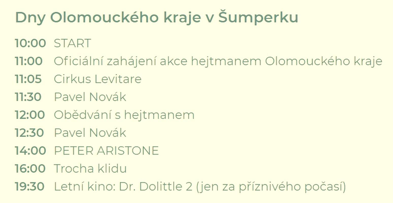 Dny OLK v Šumperku program zdroj foto: OLK