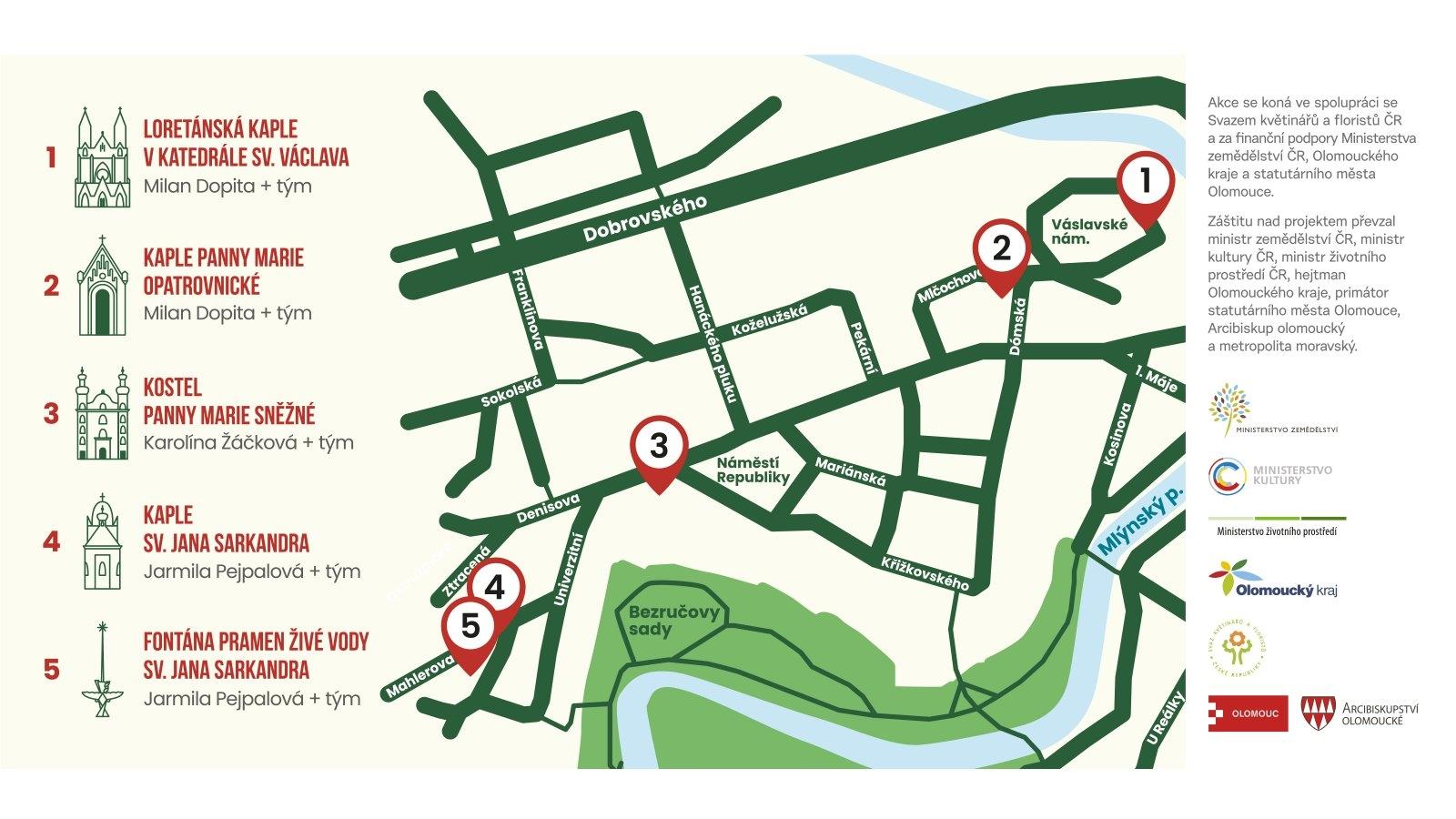mapka - Rozkvětlé památky zdroj: VFO