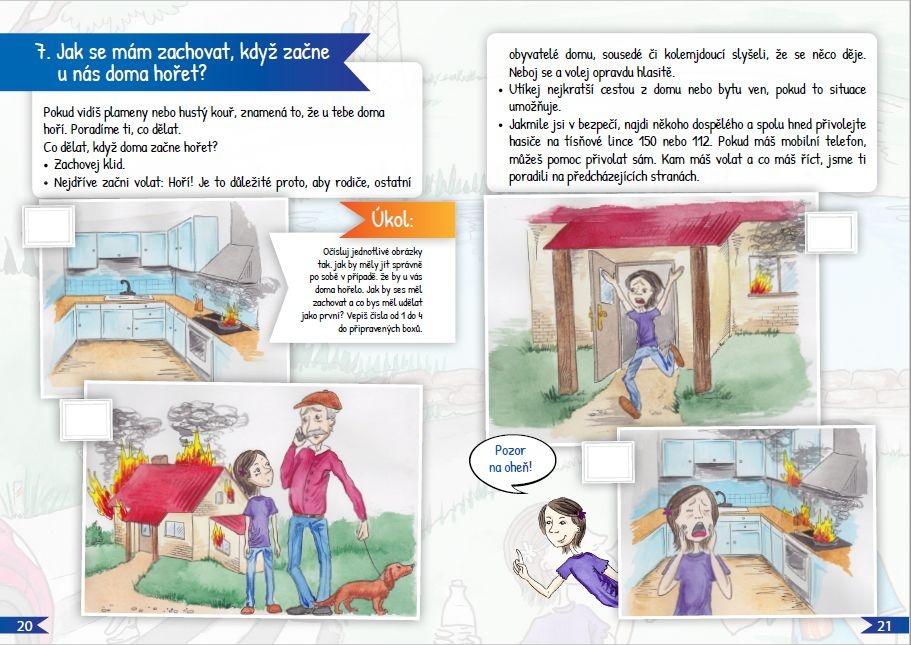 brožura HZS OLK Jak se mají děti chovat při požáru