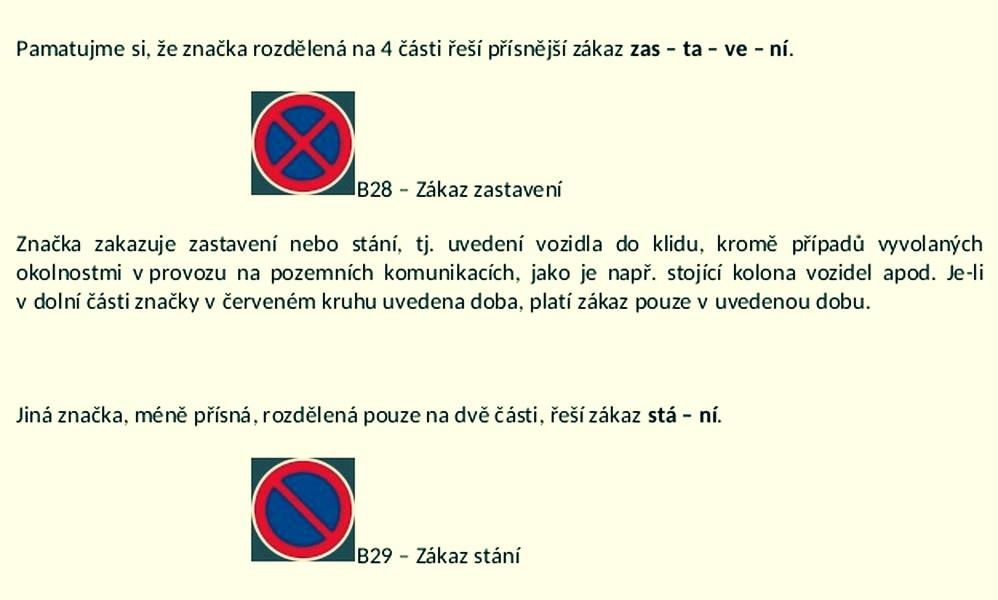 dopravní značení zdroj: MPŠ
