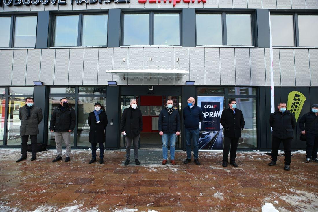 otevření terminálu ve čtvrtek 14. ledna foto:sumpersko.net - M. Jeřábek