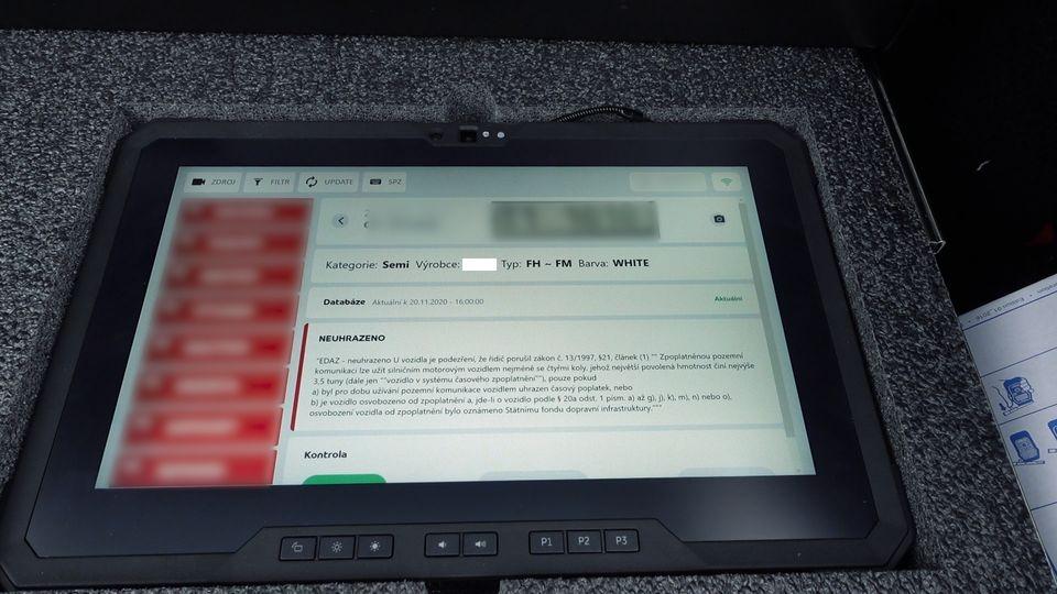 kontrola dálničních poplatků zdroj foto: PČR