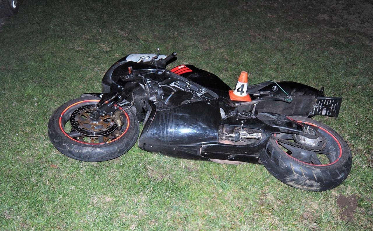 pronásledování motocyklu Rapotín zdroj foto: PČR