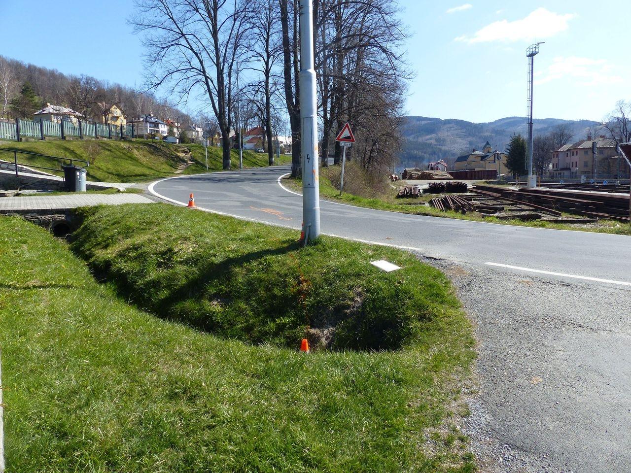 Havárie cyklisty Jeseník zdroj foto: PČR