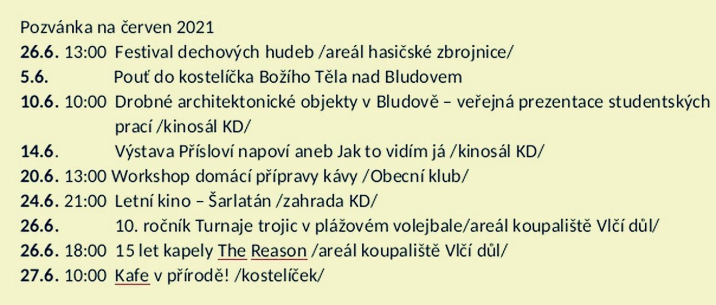 Bludov - akce červen zdroj: B. Haušková