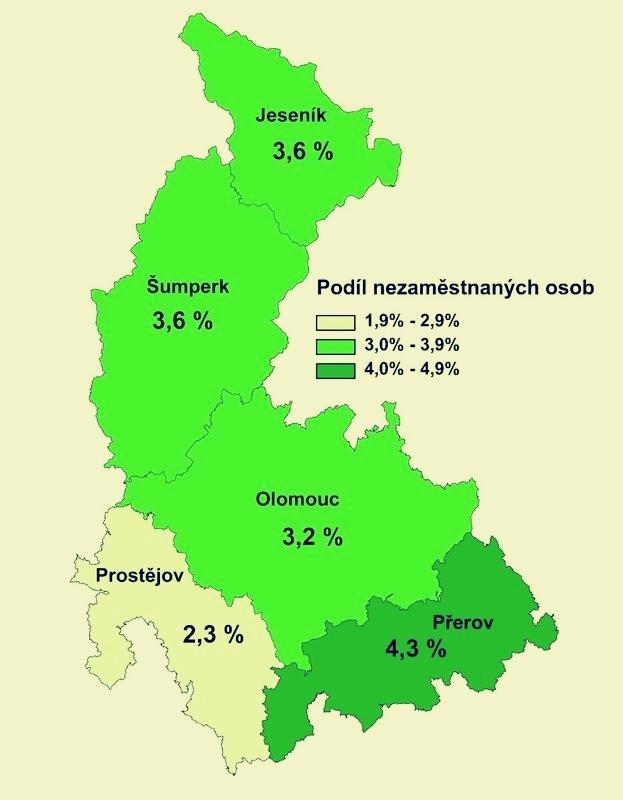 mapa zdroj: ÚP - Olomoucký kraj